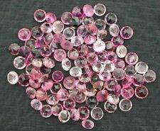TWO 3mm Faceted Round Pink Tourmaline Gemstone Gem Stone Natural
