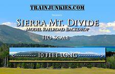 """TrainJunkies HO Scale """"Sierra Mountain Divide"""" Backdrop  18x120"""" C-10 Brand New"""