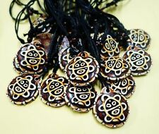 10 PCS Rare Taino Biker Cool Culture SUN GOD Embossed Two Sided Necklace