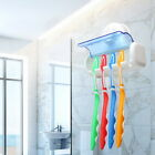 Easy Toothbrush Suction Cups Holder Stand 5 Racks Home Bathroom Wall Mount HS