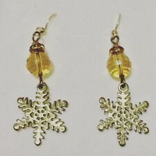 Handmade Citrine and brass Earrings