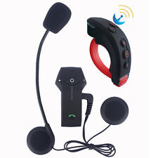 1000M BT Casco Da Moto Bluetooth Interfono Interphone Cuffie+Telecomando