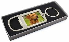 Fox Red Labrador 'Love You Dad' Chrome Metal Bottle Opener Keyring in, DAD-28MBO