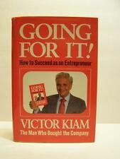Going for It! How to Succeed As an Entrepreneur by Victor Kiam (1986, Hardcover)