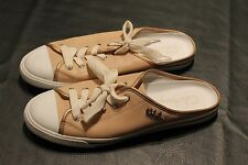 Cole Haan Open back satin Tennis Shoes 8 1/2 B Nude Leather