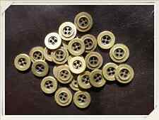 50 Antique Gold colour metal Buttons 15mm 4 hole Arts & Crafts (113)