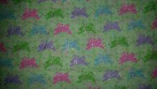 LINED VALANCE 42X15 SPRING EASTER EGG BUNNY BUNNIES HOP GLITTER SILVER BOWS