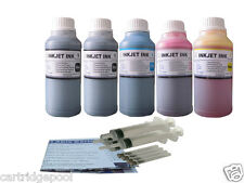 Refill ink kit for HP 920 920XL OfficeJet 6000 6500a 6500a Plus 7500a 5x10ozs 1P