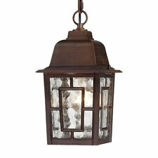 Nuvo Lighting 60-4932 Banyan 1 Light 11-in Hanging Outdoor Pendant w/Clear Water