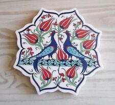 Turc cini floral ottoman design céramique dessous de plat plaque chaude wall tile cadeau de noël