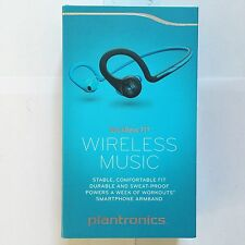 New Plantronics BackBeat Fit Bluetooth Wireless Headphones Sweatproof Blue