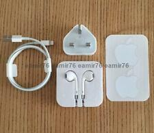 Genuine/Official Apple EarPods + Lightning USB Cable + Mains Charger iPod iPhone