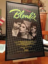 """BIG 11X17 FRAMED BLONDIE """"EAT TO THE BEAT"""" LP ALBUM PROMO AD+ REMASTERED CD too!"""