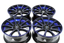 18 Drift blue Rims Wheels Crosstour ILX MKZ MKX Accord Sonata EX35 5x100 5x114.3