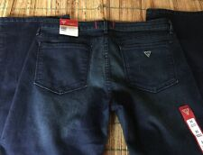GUESS NWT Grace Straight Leg Jeans Size 31 Dark Wash Jeans Low Rise
