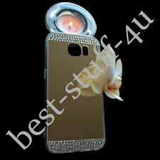 Mirror Crystal Bling Silicone Soft Gel Case g61 Back Cover Fits Samsung Galaxy