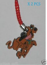 2PCS  SCOOBY DOO DOG CELL PHONE STRAP BAG CHARM KEY CHAIN us un32