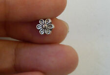 30 flower beads spacer tibetan silver style wholesale 3D craft uk