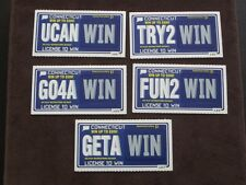 5 - 1998  CONNECTICUT SV SAMPLE LOTTERY TICKETS - LICENSE TO WIN