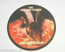 "ADESIVO anni '70 vintage / Old Sticker THE ROLLING STONES ""goats head ..(cm 11)"