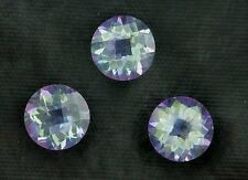ONE 6mm Checkerboard Round Mercury Mist Mystic Fire Topaz Gem Stone Gemstone