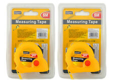 Lot of (2) Compact/ Portable 5M Measuring Tape with Belt Clip n' Holder Buttons