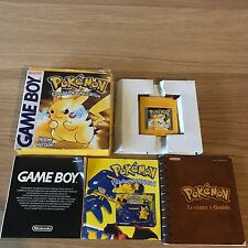 Pokemon yellow version nintendo game boy | boxed & complet | classique rpg