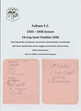 FULHAM 1935-36 SEASON RARE ORIG HAND SIGNED 2 X PAGES 13 X SIGS INCL HAYNES HILL