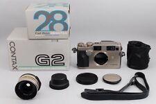 """""""In Box"""" Contax G2 35mm Rangefinder Camera Body w/ Biogon T* 28mm F/2.8 A639"""
