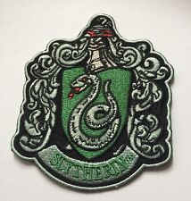 """High Quality Harry Potter """"SLYTHERIN"""" Embroidered Iron On Patch (3.25"""" X 4.0"""")"""