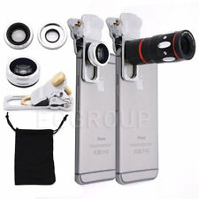 4in1 10x Zoom+Fish Eye+Wide Angle+Micro Clip Camera Lens For Samsung S6 S7 Edge