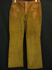 Vintage Dolce & Gabbana D&G Brown Corduroy Leather Trim Pants 43 29 US