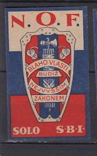 Ancienne étiquette allumettes Tchécoslovaquie  AC187 A1