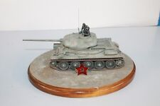"""TOURNAMENT SAMPLE PRO PAINT ON STAND 7"""" WWII SOVIET T34/85 t-34-85 TANK"""