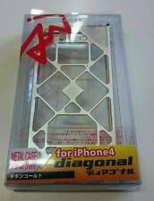 ARACHNOFOBIA DIAGONAL CUSTODIA METALLO METAL CASE per APPLE iPHONE 4 4G 4S