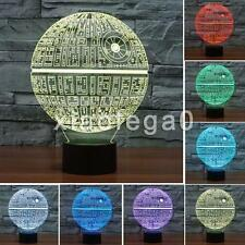 Star Wars Death Star 3D LED Night Light 7 Color Change LED Desk Table Lamp Gift