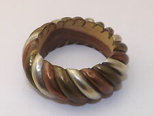 Vintage Wood/Metal Wrap Cuff/Bracelet - Collectible