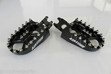 AIRTIME BILLET CNC WIDE FAT FOOT PEGS HONDA CRF450R/450X (2002-2016 ) BLACK