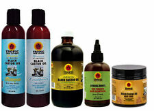 Tropic Isle Living JBCO Shampoo Duo & Black Oil 8oz/ Strong Root & Hair Food Set