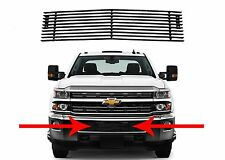 Lower Bumper Black Billet Grill Insert For 2015-2017 Silverado 2500HD 3500HD New