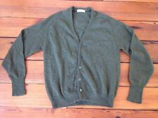 Vintage 90s Grunge Fuzzy Lambs Wool Button Up Cardigan Grandpa Sweater M 41""