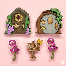DRESS IT UP Buttons Believe In Fairies 9388 - Embellishment Xmas Garden Flower