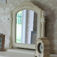Cream wooden dressing table swing mirror vintage country style home chic