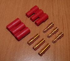 1 Paar 3,5mm HXT Goldstecker mit Hülse Stecker Motor Regler ESC Connector Gold
