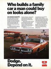 1971 Chrysler Motors Corp Print Ad for 1972 Dodge Charger w/ Prop Plane.