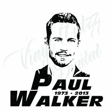 PAUL WALKER NOVELTY CAR BIKE VAN VINYL DECAL STICKER 16x16cm aprox