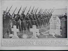 1914 FUNERAL FIRING PARTY AMPHION  KONIGIN LUISE FIGHT; ZEPPELIN THREAT WWI WW1