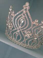 11 Cms Tall Silver Tiara .Wedding/ Prom/beauty Pageant Tiara . Huge