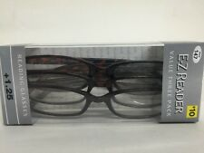 LOT OF 9 FOSTER GRANT HADLEY TORTOISE READING GLASSES +1.25 NEW
