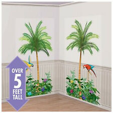 PALM TREES SCENE SETTER WALL DECORATIONS (2pc) ~ Birthday Party Supplies Luau